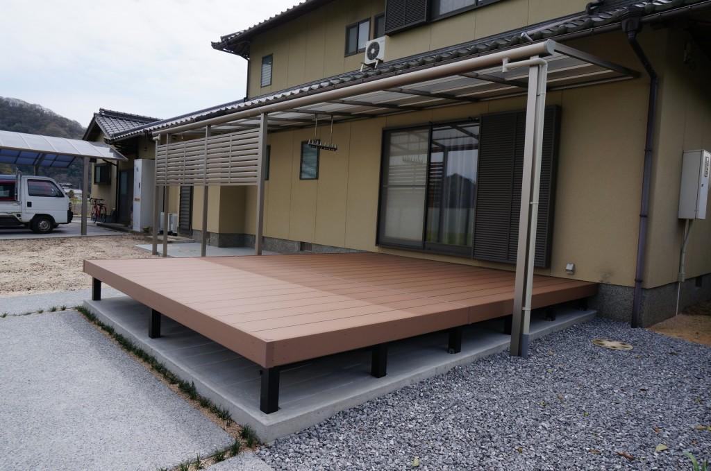 岡山市 S様邸外構工事完成 NO.1