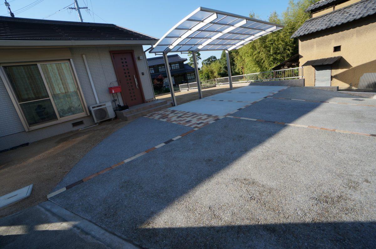 倉敷市 道路と敷地に高低差がある外構工事施工完了♪