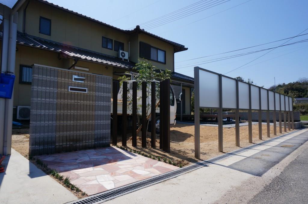 門周り施工完了♪