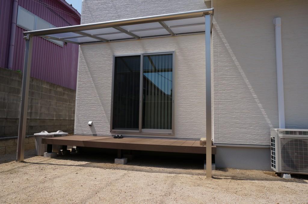 テラス屋根&デッキ施工完了です♪