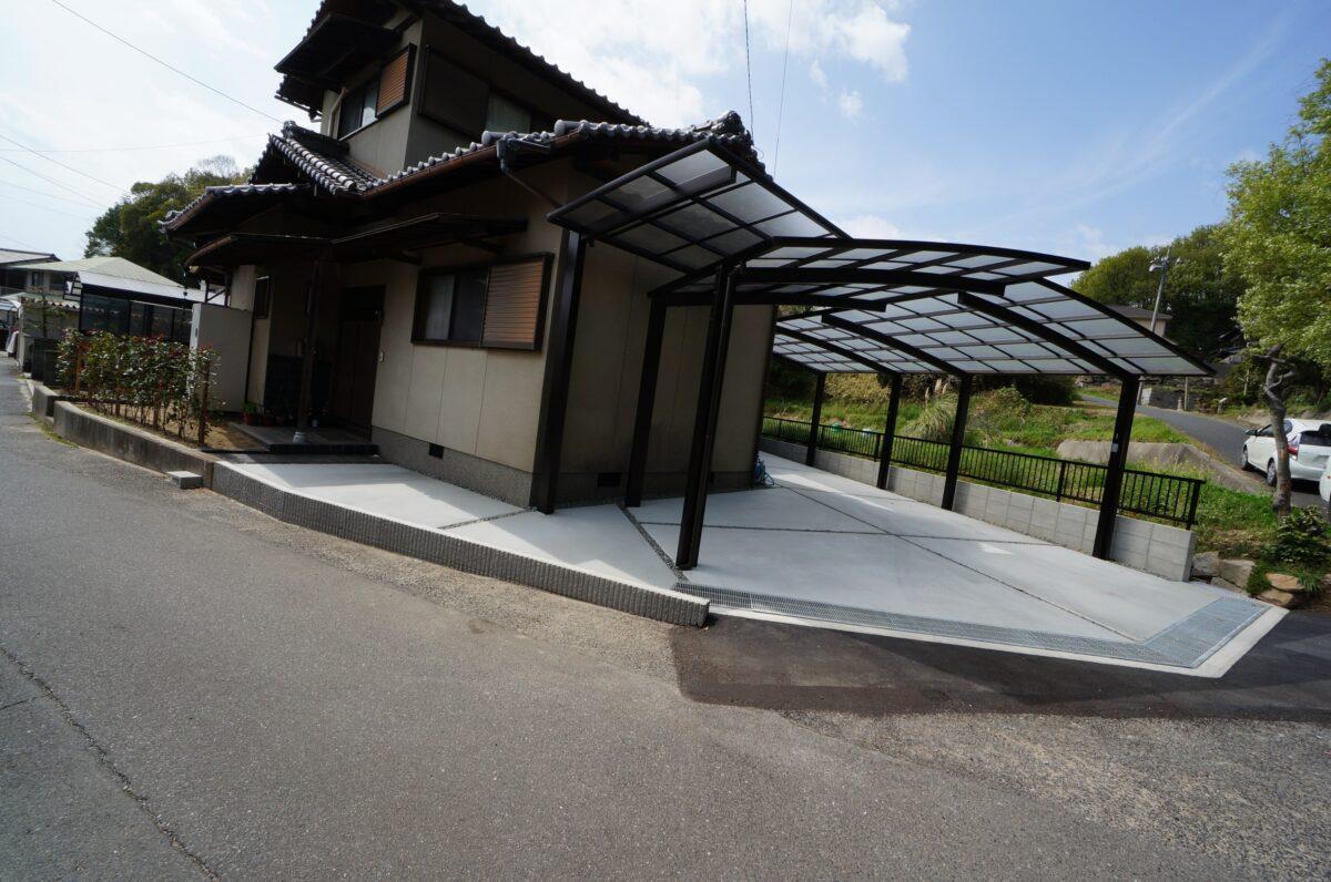 倉敷市 カーポート 土間 境界