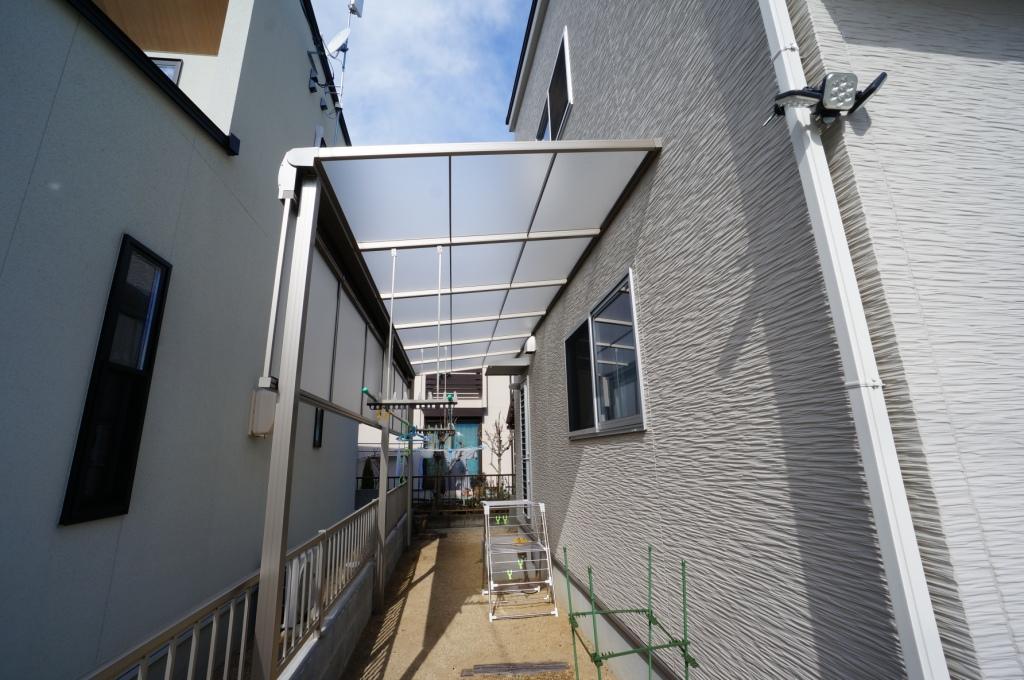 倉敷市 リピーター テラス屋根 土間コンクリート