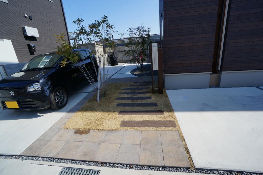 玉野市 リピーター 人工ウッドデッキ 土間コンクリート