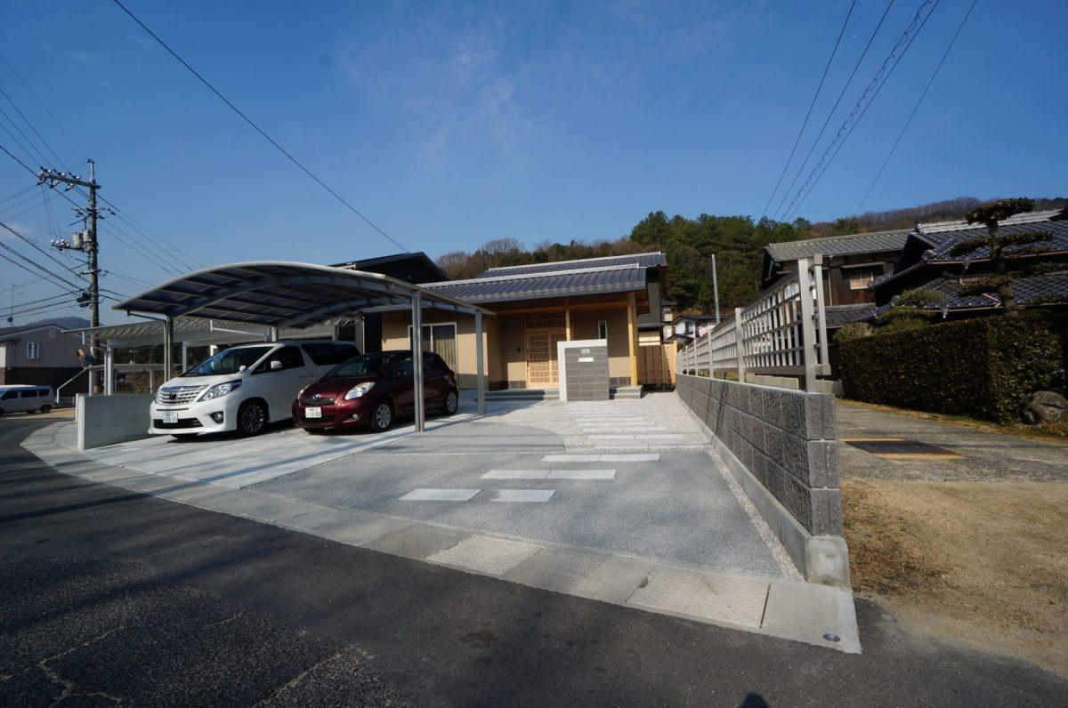 倉敷市 中庭に紅葉のある新築和風住宅の外構、エクステリア工事!!