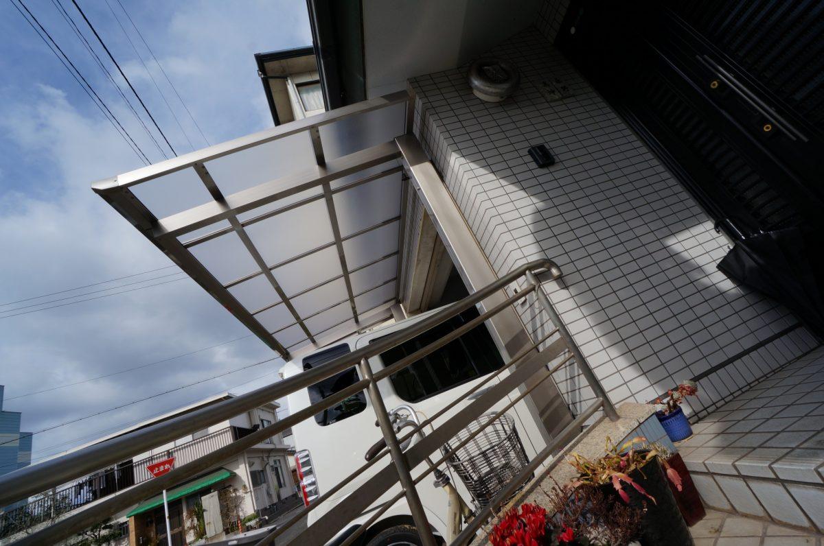 倉敷市 テラス屋根 バリューテラスFタイプ 独立式を設置しました。