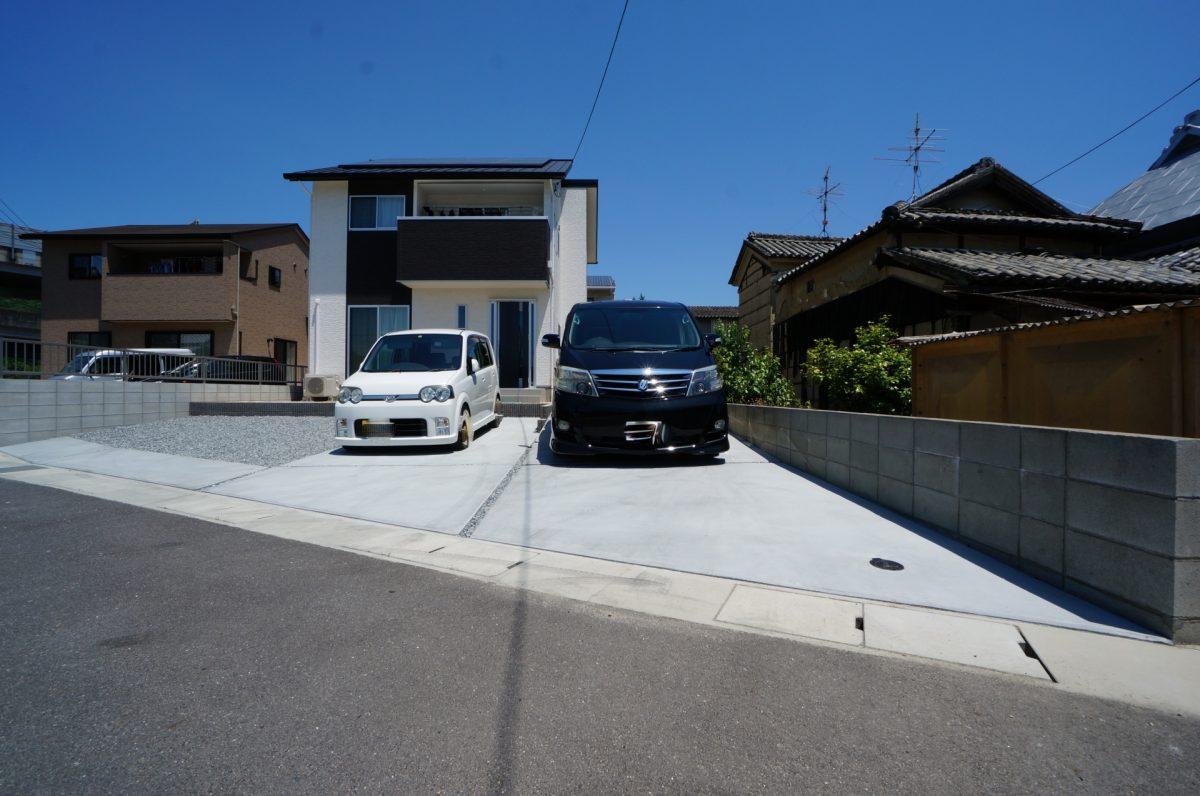 岡山市 土間コンクリート塗装 駐車スペース イナバ物置